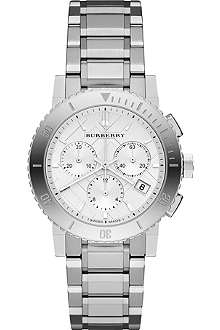BURBERRY BU9700 The City stainless steel chronograph watch
