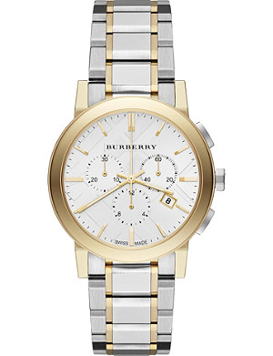 BURBERRY The City BU971 gold-toned stainless steel chronograph watch