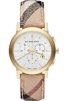 BURBERRY The City BU9752 gold-toned stainless steel watch