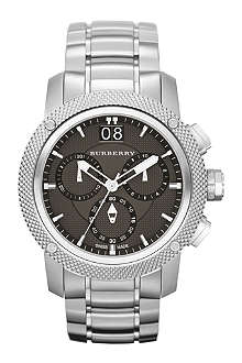 BURBERRY BU9800 Stainless steel chronograph sports watch