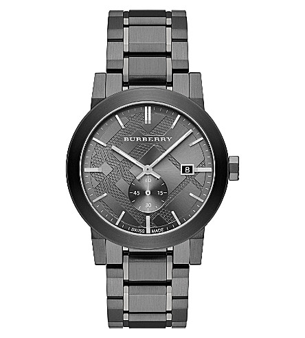 BURBERRY BU9902 stainless steel watch (Silver
