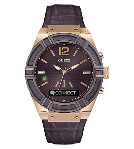 GUESS c0001g2 连接不锈钢皮表带腕表
