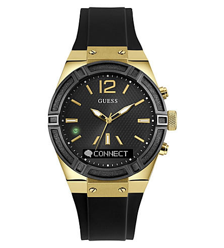 GUESS C0002M3 Connect stainless steel and silicone watch