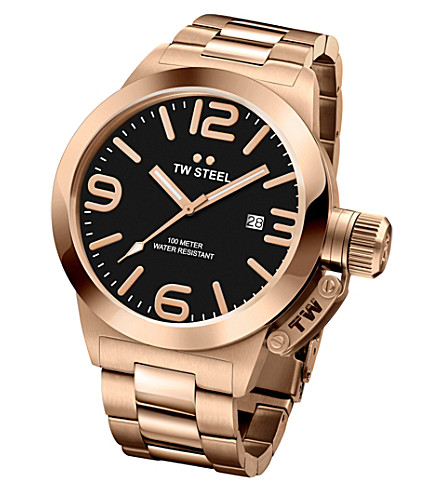 TW STEEL CB171 Canteen rose gold PVD-plated stainless steel watch
