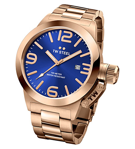 TW STEEL CB181 Canteen rose gold PVD-plated stainless steel watch