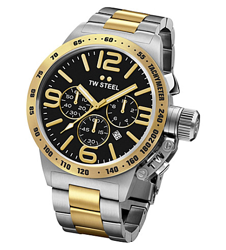 TW STEEL CB43 Canteen steel and yellow gold watch