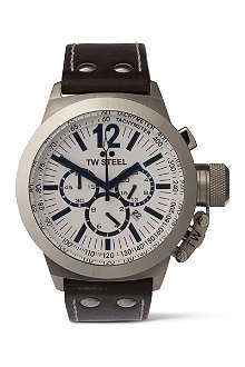 TW STEEL CEO Canteen chronograph white dial watch