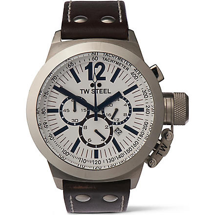 TW STEEL CEO Canteen chronograph white dial watch (White