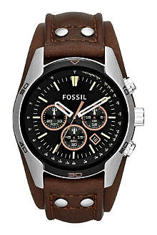 FOSSIL CH2891 Coachman steel and leather chronograph watch