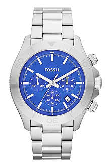FOSSIL CH2894 Retro Traveler chronograph stainless steel watch