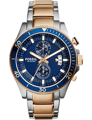 FOSSIL 2954 wakefield two-tone stainless steel watch