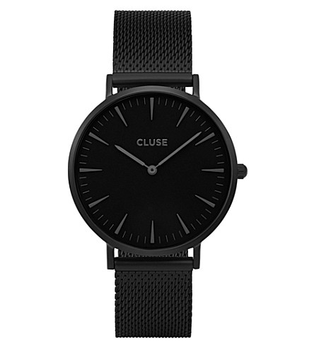 CLUSE CL18111 La Bohème stainless steel mesh watch