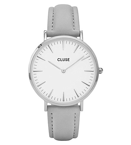 CLUSE CL18215 La Bohème stainless steel and leather watch (White