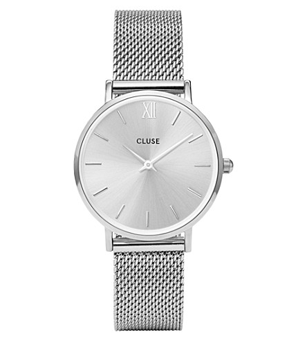 CLUSE CL30023 Minuit stainless steel mesh watch
