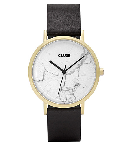 CLUSE CL40003 La Roche marble-dial leather watch