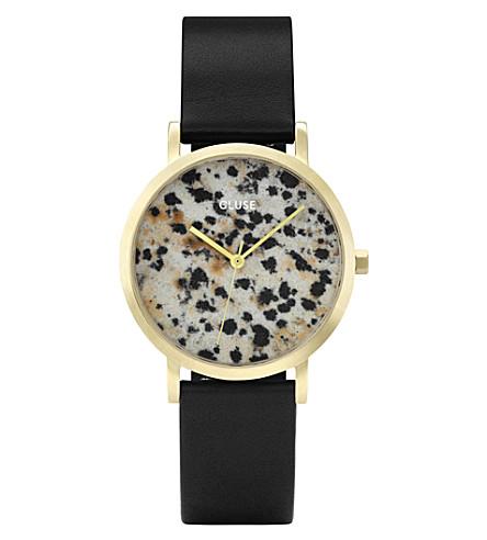 CLUSE CL40105 La Roche Petite gold and dalmatian stone watch