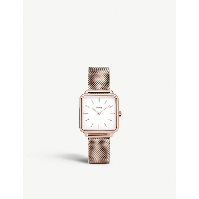 CLUSE CL60003 LA GARÇONNE ROSE GOLD-PLATED MESH WATCH