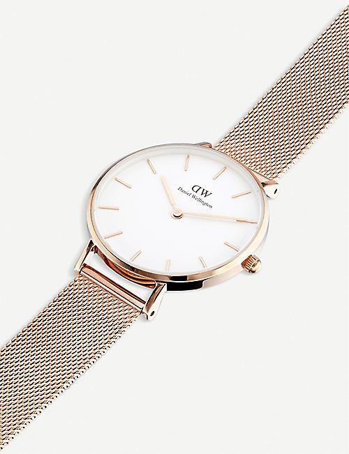 DANIEL WELLINGTON Classic Petite Melrose rose gold-plated watch