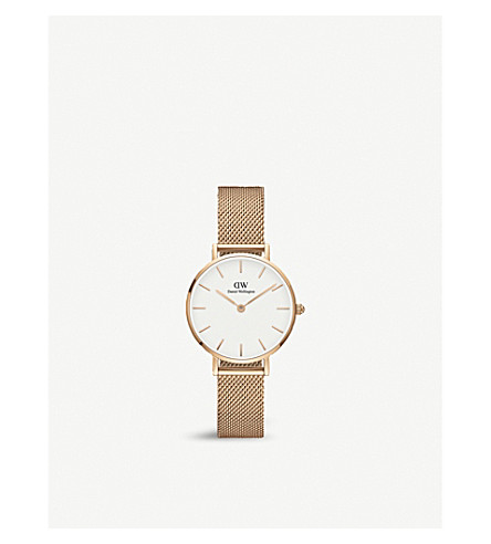 DANIEL WELLINGTON DW00100219 Melrose Classic petite rose gold-plated watch