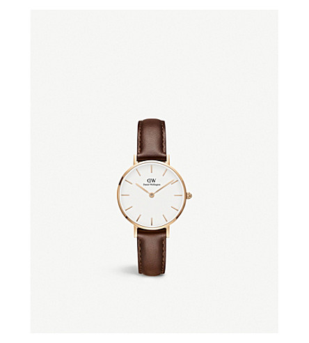 DANIEL WELLINGTON Classic Petite rose gold-plated watch