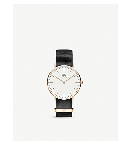 DANIEL WELLINGTON DW00100259 Classic Cornwall rose gold-plated watch