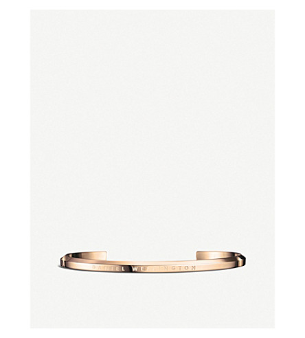 DANIEL WELLINGTON Classic Cuff rose-gold plated stainless steel bracelet large