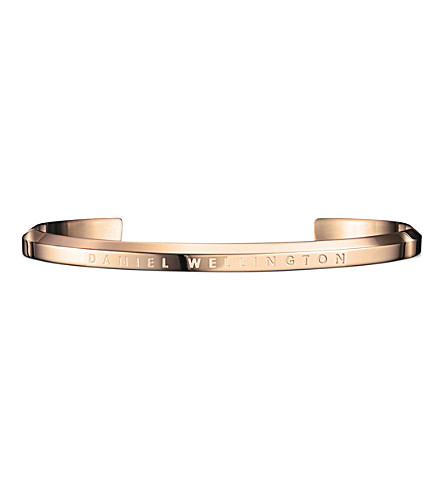 DANIEL WELLINGTON Classic Cuff rose-gold plated stainless steel bracelet small