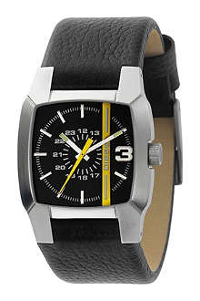 DIESEL DZ1089 stainless steel and leather watch
