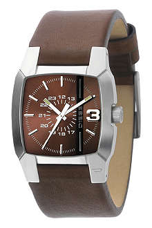 DIESEL DZ1090 stainless steel and leather watch