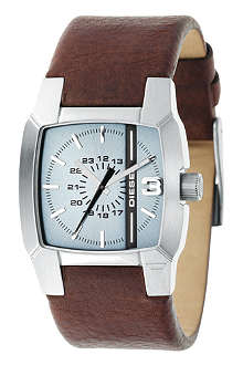 DIESEL DZ1123 stainless steel and leather watch