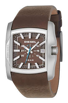 DIESEL DZ1179 stainless steel and leather watch