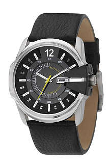 DIESEL DZ1295 stainless steel and leather watch