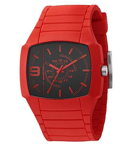 DIESEL DZ1351 Young Blood unisex silicone watch (Black