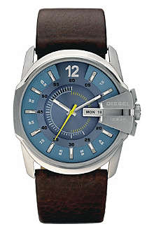 DIESEL DZ1399 stainless steel and leather watch