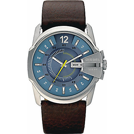 DIESEL DZ1399 stainless steel and leather watch (Blue