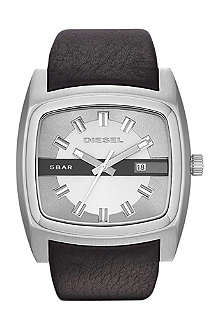 DIESEL DZ1555 steel and leather watch