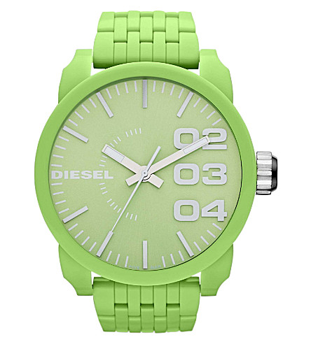 DIESEL DZ1574 resin unisex watch (Green