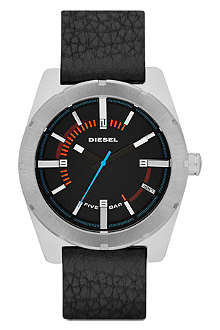 DIESEL DZ1597 stainless steel and leather