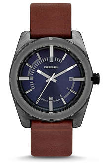 DIESEL DZ1598 stainless steel and leather watch