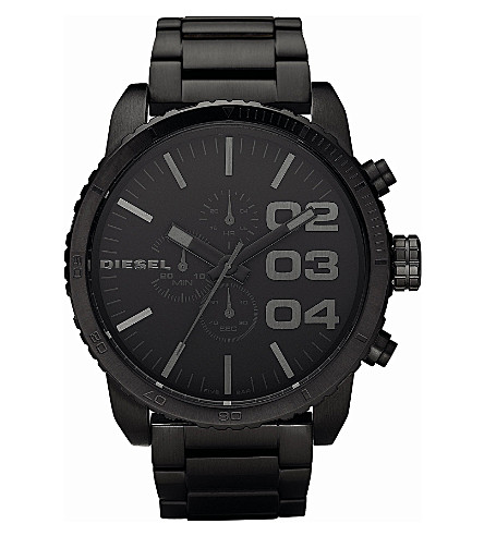 DIESEL DZ4207 Franchise Chronograph steel watch (Black
