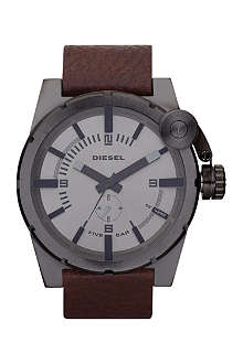 DIESEL DZ4238 steel and leather watch