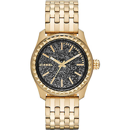DIESEL DZ5405 Kray Kray 38 gold-plated watch (Pyrite