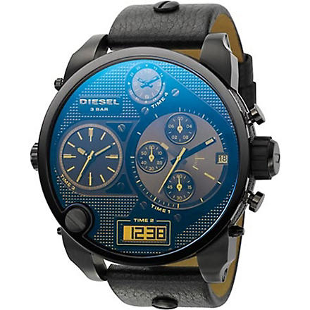 DIESEL DZ7127 Super Bad Ass steel and leather watch (Blue