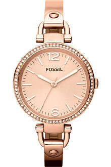 FOSSIL ES3226 Georgia rose gold-toned bracelet watch