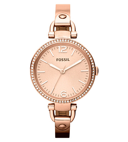 FOSSIL ES3226 Georgia rose gold-toned bracelet watch (Rose+gold