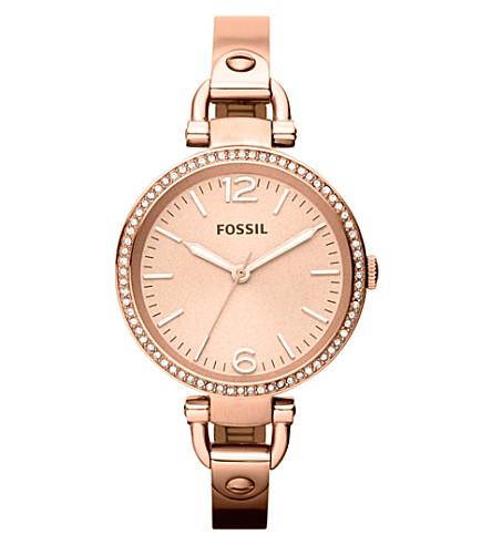 FOSSIL ES3226 Georgia rose gold-toned bracelet watch (Rose+gold