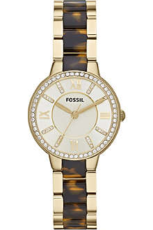 FOSSIL ES3314 Virginia PVD gold-plated watch