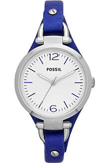 FOSSIL ES3318 Georgia stainless steel and leather watch