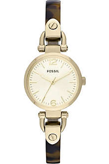 FOSSIL ES3336 Georgia PVD gold-plated watch