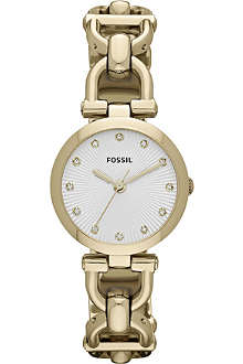 FOSSIL ES3349 Olive gold-plated watch
